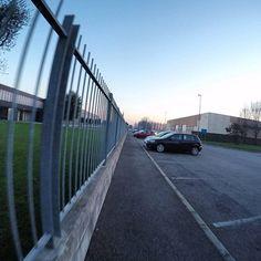 GoPro Day 10: Perspective  #nofilter #gopro @gopro #light #january #30daysofgopro #perspective #street #sidewalk #fence #sunset