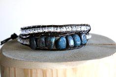Quartzite Beaded Wrap Bracelet  Wrap Bracelets by BessiesCreations #beadedbracelets #wrapbracelets