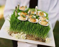 Fabulous Canape presentation #elegant catering