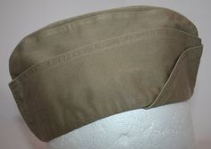 Vintage US Army Cotton Garrison Cap 1940's by ilovevintagestuff
