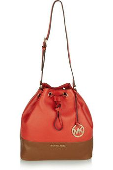 MICHAEL Michael Kors Jules two-tone leather bucket bag | NET-A-PORTER