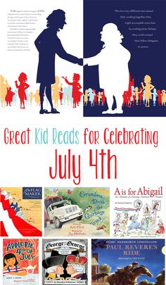 Great list of books to get kids excited about the 4th of July