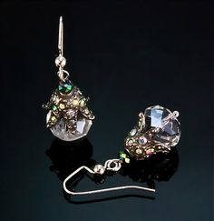 Image of Quartz Crystal and Sterling Silver Earrings