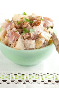 Paula Deen Roasted Potato Salad with Blue Cheese Dressing