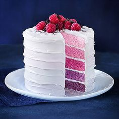 RAINBOW LAYER CAKE WITH RASPBERRY FROSTING - from Lakeland