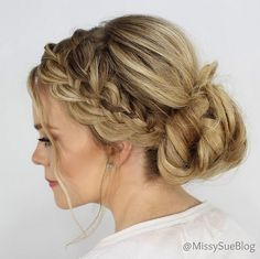 Image result for over the ear updo
