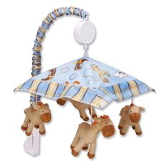 """$35.99-$43.95 Baby Trend Lab Baby Musical Mobile, Cowboy - COWBOY MOBILE - Cowboy Scatter Print Twill and Plaid Percale; Canopy: 14"""" x 14"""", Stuffed Ponies: 4"""" x 3 1/4"""", Slide Cover: 1 1/8"""" at Top, 2 1/2"""" at Bottom x 48"""" http://www.amazon.com/dp/B005XRV73Y/?tag=pin2baby-20"""