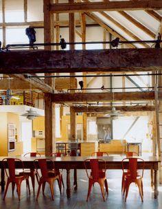 modern barn interior
