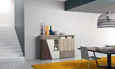 A wide collection of cupboards conceptually different, characterized by versatility and elegance. The colors and shapes, the hallmarks of design solutions Sinuous and Diagonal value and become a symbol of the modern home, where the wood species retain a leading role.