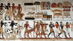 Egyptian Wall Painting Of Temple Of Beit El-wali Photograph: Ancient Egyptian Food, Egyptian Art, Black History Facts, Art History, History Education, Sphinx Egypt, Egypt News, West Africa, Drawing