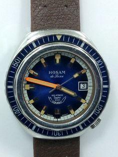 318b32449b0 Hosam Squale 1000M Automatic Diver circa 1970 s Cronógrafo
