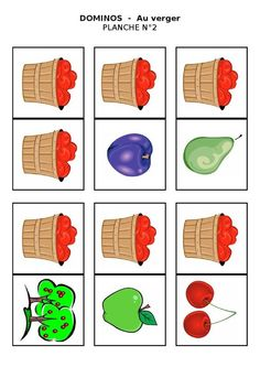 Domino - ovoce Preschool Food, Preschool Activities, Vegetable Crafts, Monthly Themes, Fruits And Vegetables, Games For Kids, Restaurant, Healthy, Blog