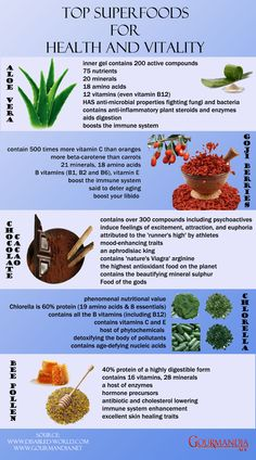 Top Superfoods For Health and Vitality