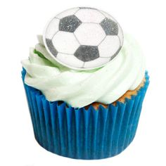 12 Edible Soccer Ball Cake Decorations | Holly Cupcakes