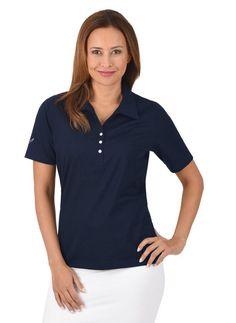 TRIGEMA Poloshirt aus Baumwolle mit Swarovski® Kristallen ab 58,00€. Halbarm, DELUXE-Single-Jersey, Figurumspielender Schnitt bei OTTO