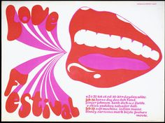 Love Festival poster for a performance at the UFO Club, Michael English, 1967. l Victoria and Albert Museum