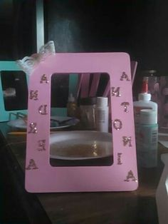 Shabby chic baby shower centerpiece and keepsake picture frame