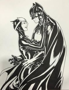 Catwoman and Batman by Mark Brooks *