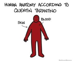 human anatomy according to Quentin Tarantino