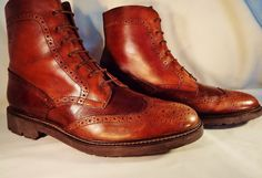 "He didn't want his new boots to look new "" as in old money"". pre owned and unused quality leather size 12 M. 
