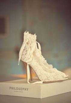 Vintage Brautschuhe, bridal shoes
