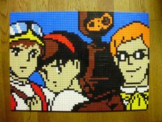 Castle in the Sky - Lego Mosaic