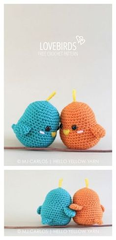 Lovebirds Free Crochet Amigurumi Pattern