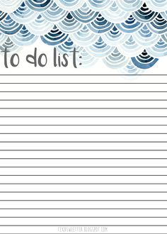 texasweettea: Free Printable To Do List