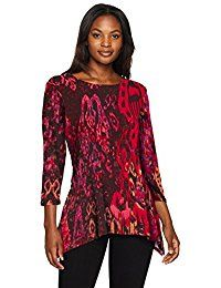 New Ruby Rd. Women's Plus Size Scoop-Neck Paisley Ikat Printed Sharkbite Top online. Find the perfect Lucky Brand Tops-Tees from top store. Sku LAZD26796WVWQ61265