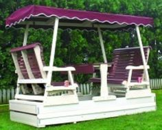 Keystone Double Glider Amish Made Furniture Gliders