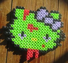 Zombie Hello Kitty Made In Perler beads by GiacomoDesigns
