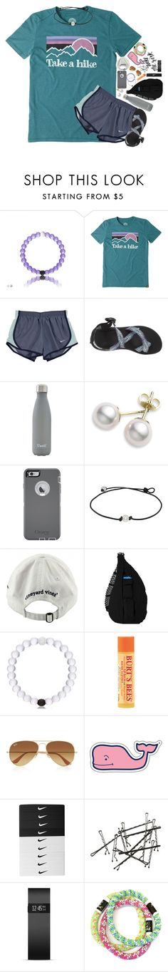 """we won our first soccer game and our last vball game!!!!"" by kate-elizabethh ❤ liked on Polyvore featuring Life is good, NIKE, Chaco, S'well, Mikimoto, OtterBox, Vineyard Vines, Kavu, Burt's Bees and Ray-Ban"