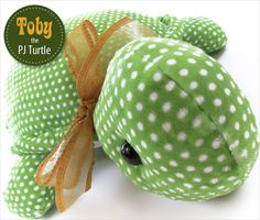 Toby the Stuffed Turtle with a Hidden PJ Pocket | Sew4Home