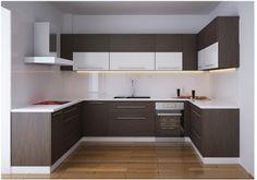 tủ bếp gỗ vereer sơn màu mang tới nhiều trải nghiệp mới cho không gian nhà bạn