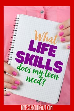 What are the most important life skills for teens? This covers them all! From time management to balancing a checkbook they're taken the guesswork out of it all! High School Curriculum, Life Skills Classroom, High School Life, Importance Of Time Management, How To Start Homeschooling, Teen Life, Skills To Learn, Parenting Teens, Home Schooling