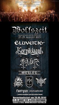 Wolfszeit 2015 Pagan Metal, Folk Metal, Black Metal