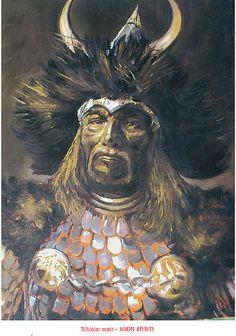 Kertai Zalán alkotása (Töhötöm Vezér) Attila The Hun, Here I Go Again, Genghis Khan, Set Me Free, World History, Ancestry, Hungary, Fantasy Art, Culture