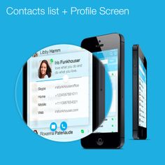 Skype Redesign iOS7 by Tadas Jotkevicius, via Behance