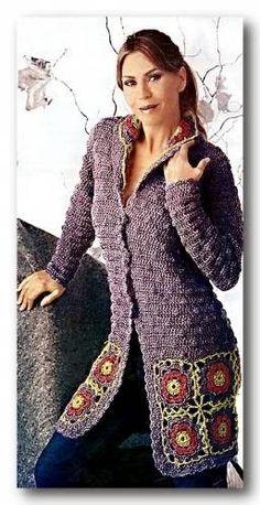 Irish crochet &: Purple coat.