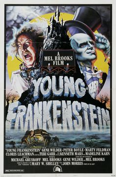 Young Frankenstein (1974)~ Comedy.  (Although not a horror I had to put it in my horror category- just hilarious!) Stars: Gene Wilder, Madeline Kahn, Marty Feldman, Peter Boyle, Cloris Leachman and Terry Garr. With a line-up like that, it has to be hilarious!