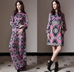 Temperley London 2014 Pre Fall Womens Presentation - Pre Autumn Collection - Leather Skinny Biker Jeans Sheer Chiffon Lace Peek-A-Boo Jumpsu...