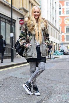 London Street Style - Vans Platform Sk8-Hi