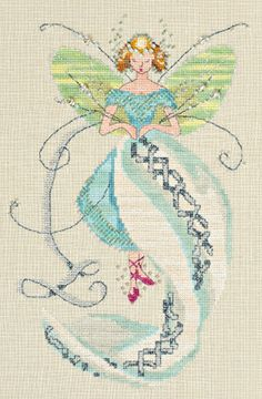 Stiching Fairies Linen Fairy - Cross Stitch Pattern