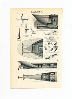 Dampfschiffe Motoren Schiffsschrauben Antique von EleanorsVintage