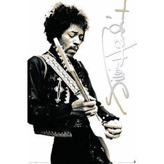 Jimi Hendrix (BW) Poster.  Gettin' it.