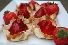 Strawberry custard tarts – Drizzle Me Skinny!