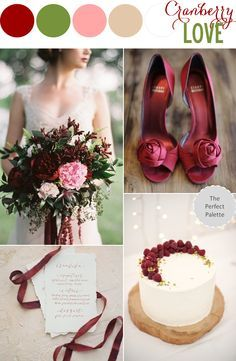 Cranberry Wedding love for Fall wedding... just not so much the green!