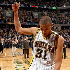 Reggie says goodbye to the Pacers faithful after his final game on May 19, 2005.