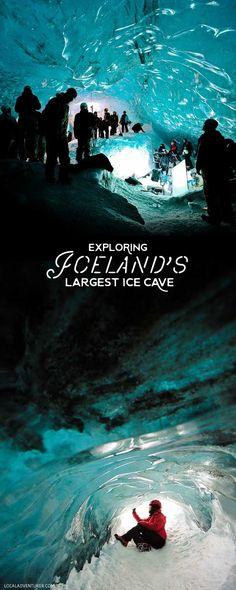 Breiðamerkurjökull Crystal Cave - Largest Ice Cave in Iceland is located in Skaftafell National Park on Vatnajokull Glacier // localadventurer.com