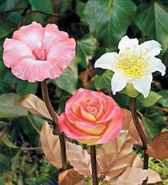 solar garden decor solar glow flowers via wind and weather garden decor amazing garden lighting flower